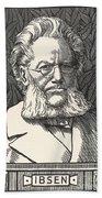 Henrik Ibsen, Norwegian Playwright Beach Towel