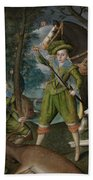 Henry Frederick 15941612 Prince Of Wales With Sir John Harington 15921614 In The Hunting Field Beach Towel