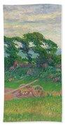 Henry Moret 1856 - 1913 The Plough Beach Towel
