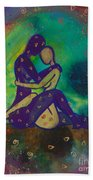 Her Loves Embrace Divine Love Series No. 1006 Beach Towel