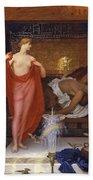 Hera In The House Of Hephaistos Beach Towel