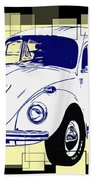 Herbie The Love Bug Beach Towel