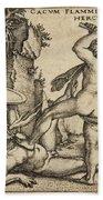 Hercules Killing Cacus At His Cave Beach Towel