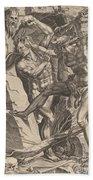 Hercules Killing Cacus Beach Towel