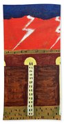 Here Comes The Flood Beach Towel by Patrick J Murphy