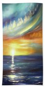 Here It Goes - Vertical Colorful Sunset Beach Towel