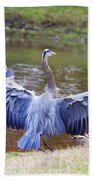 Heron Bank Landing Beach Towel