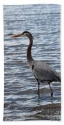 Heron On  Lake Guntersville Beach Towel