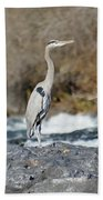 Heron The Rock Beach Towel