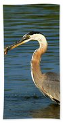 Herons Catch Beach Towel