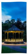 Hexham Bandstand At Night Beach Towel