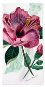 Hibiscus Dusky Rose Beach Towel