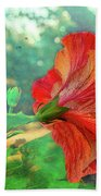 Hibiscus Flame Beach Towel