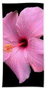 Hibiscus On Black Beach Towel