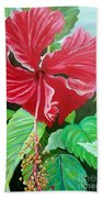 Hibiscus Beach Towel