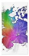 Hibiscus S D Z 2 Cool Rainbow 3 Dimensional Beach Towel
