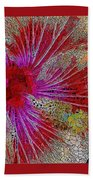 Hibiscus Stained Glass Beach Towel