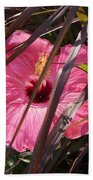 Hidden Hibiscus  Beach Sheet