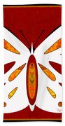 Hidden Possibilities And Abstract Butterflies By Omashte Beach Towel