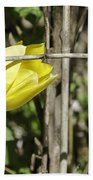 Hidden Yellow Tulip 02 Beach Towel