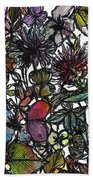 Hide And Seek In Wildflower Bushes Beach Towel
