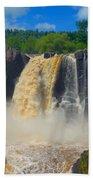 High Falls In July Beach Towel
