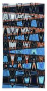 High Rise Construction Abstract # 4 Beach Towel