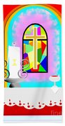 High Stained Glass Beach Towel