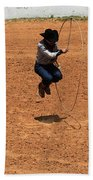 High Steppin Cowboy Beach Towel