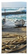 High Tide In Sennen Cove Cornwall Beach Towel
