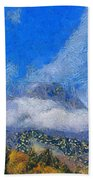 High Winds And Clouds Beach Towel