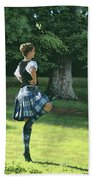 Highland Dancer Beach Towel