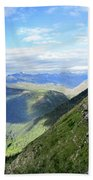 Highline Trail Overlooking Going To The Sun Road - Glacier National Park Beach Towel