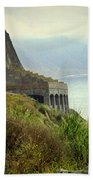 Highway 1 At Lucia South Of Big Sur Ca Beach Towel