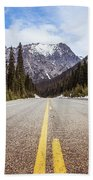 Highway 20 On Rainy Pass In North Cascades National Park Beach Towel