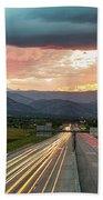 Highway 36 To Beautiful Boulder Colorado Beach Sheet