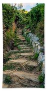 Hiking In Cinque Terre Italy Beach Towel