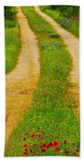 Hill Country Backroad Beach Towel
