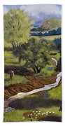 Hill Country Pasture Beach Towel