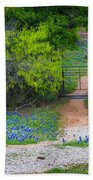 Hill Country Road Beach Towel