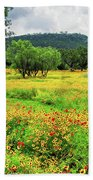 Hill Country Wildflowers Beach Towel