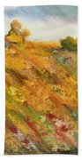 Hillside Flowers II Beach Towel