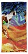 Hillside Horses Beach Towel