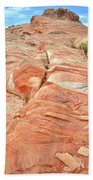 Hillside Of Color In Valley Of Fire Beach Towel