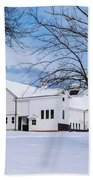 Hilltip Farm In Snow Beach Towel