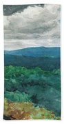 Hilly Landscape Beach Towel