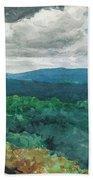Hilly Landscape Beach Sheet