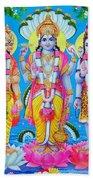 Hindu Trinity Brahma Vishnu Shiva Beach Sheet