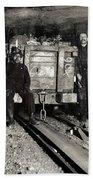 Hine: Coal Miners, 1911 Beach Towel