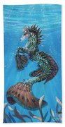 Hippocampus Beach Towel